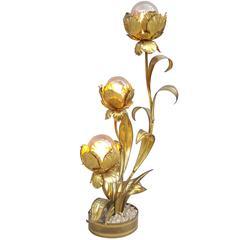 Brass Floor Lamp by Maison Jansen, Paris, 1960s