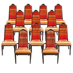 12 Mid-Century Dining Room Chairs by Maurice Bailey for Monteverdi-Young