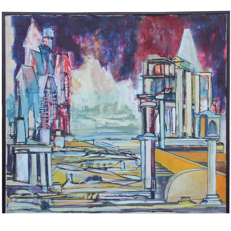 """Louise Odes Neaderland Architectural """"City"""", 1964"""
