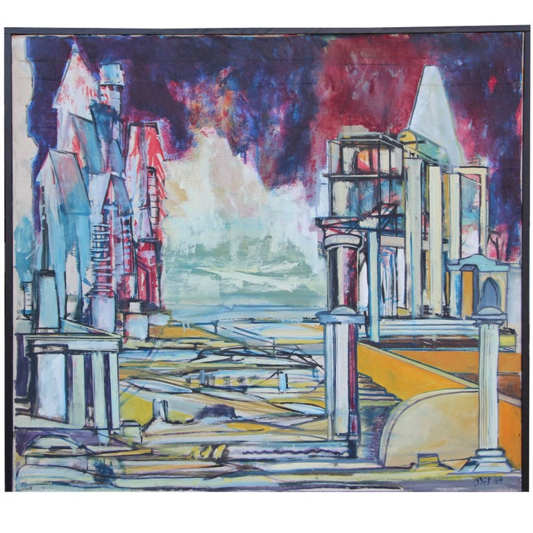 "Louise Odes Neaderland Architectural ""City"", 1964 For Sale"