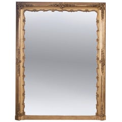 French 19th Century Giltwood Over-Mantle Mirror