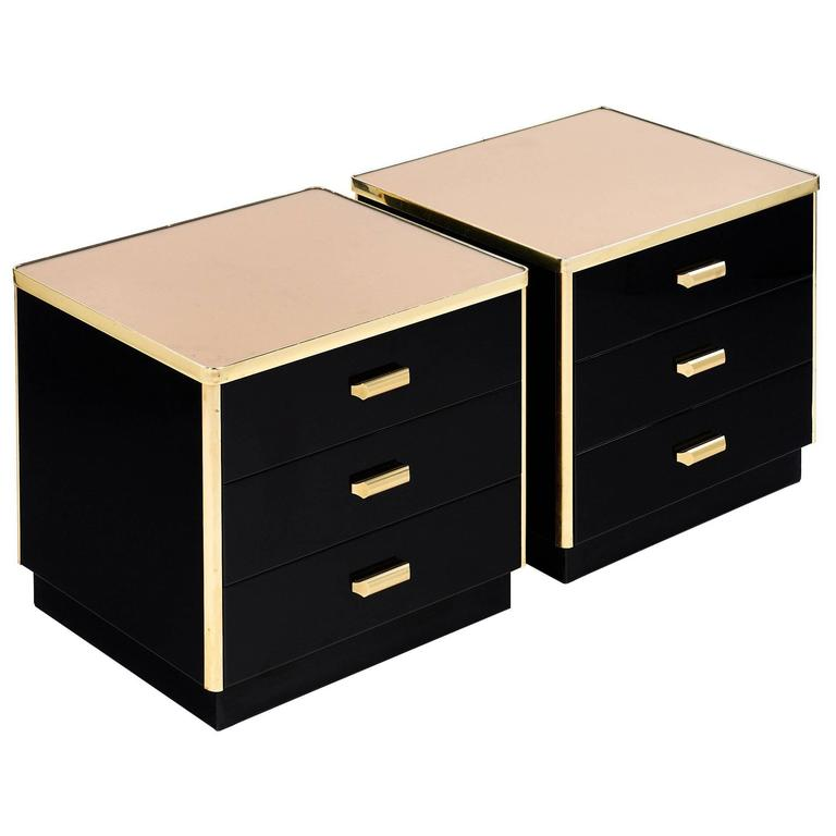 Mid-Century Modern Lacquered French Side Tables