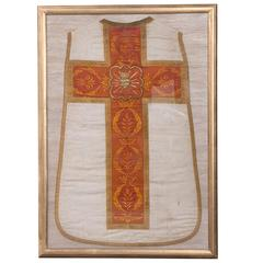 19th Century Dutch Religious Robe, Framed