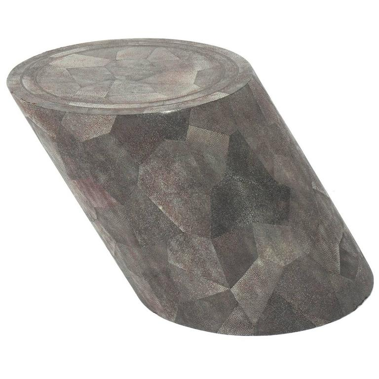 Sculptural Shagreen End Table