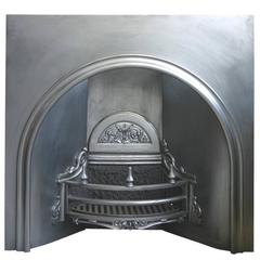 Large Antique Victorian Arched Fireplace Insert