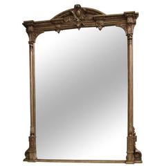 Large and Impressive Victorian Giltwood Overmantel Mirror