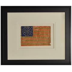 38 Star Flag 1876 with Rare Star Pattern