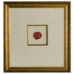Rare Presidential Document Wax Seal, 1840-1860