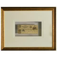 Republic of Texas $10 Note, Antique circa 1837