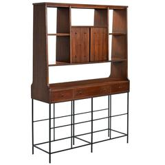 Broyhill Saga Room Divider W/ Custom Hand Welded Steel Base
