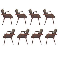 Eight Chairs Model Luisa, Design Franco Albini, 1950