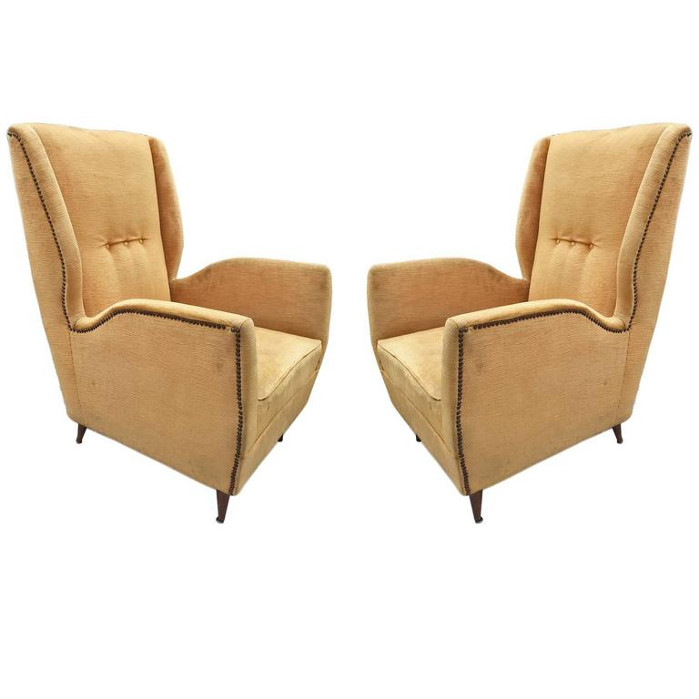Pair of Armchairs, Design Gio Ponti, 1950 For Sale