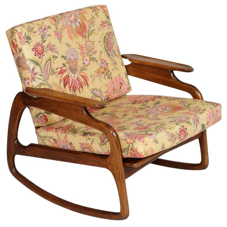Groovy Mid Century Modern Danish Rocking Chair By Adrian Pearsall Blond Walnut Texture Alphanode Cool Chair Designs And Ideas Alphanodeonline
