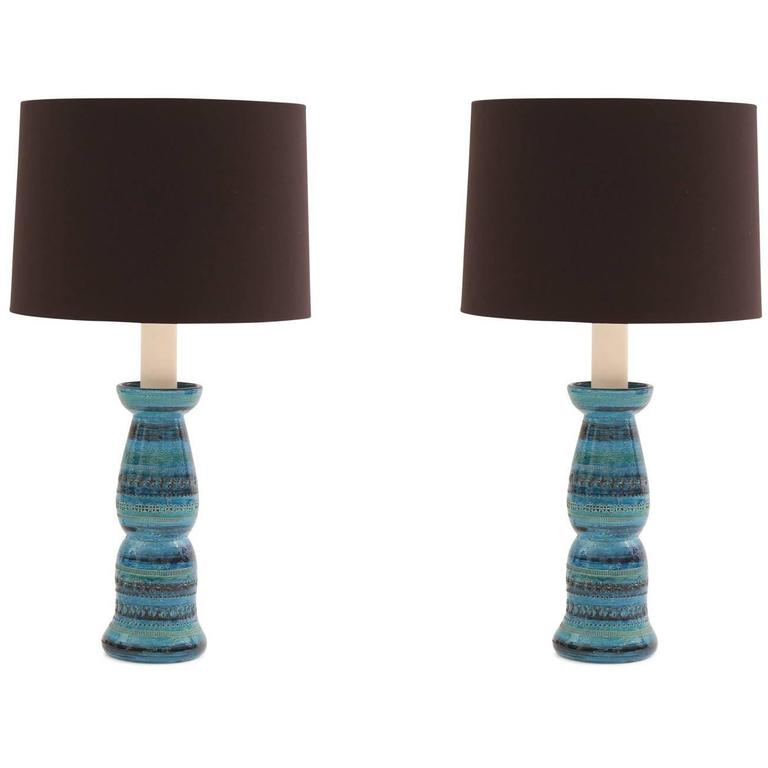 Pair of Aldo Londi Bitossi Rimini Ceramic Lamps