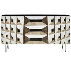 Midnight Gallery Sideboard in Marble Marquetry