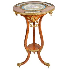 Sevres Mounted Louis XVI Style Table