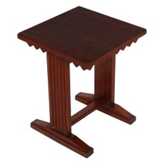 Mid -Century Art Deco Stool or Nightstand by Giovanni Michelucci in Walnut