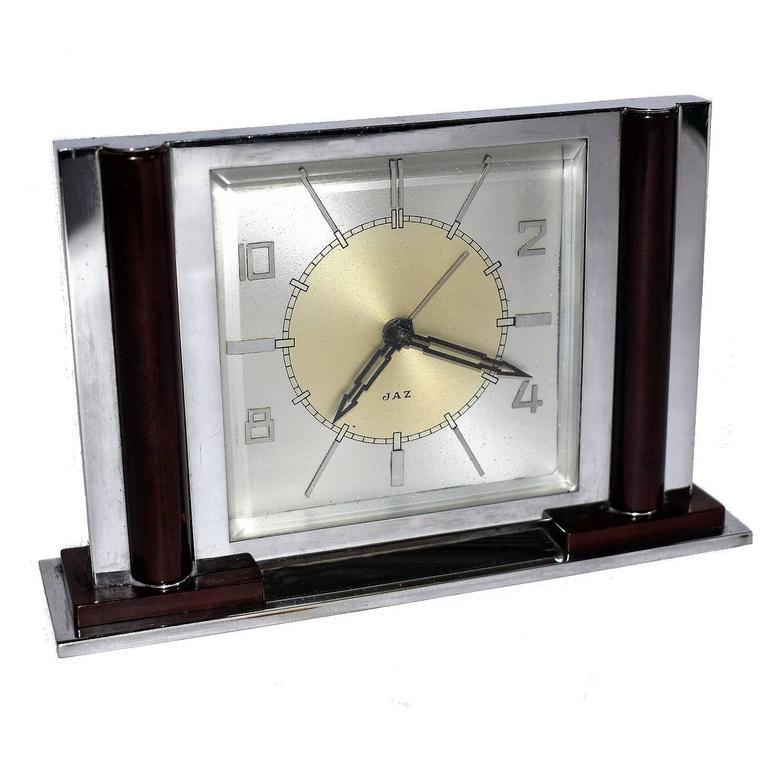 Art Deco Chrome and Bakelite Jaz Clock
