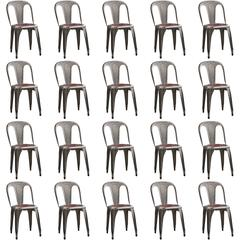 50 Stackable Chairs by Fibrocit Bruxelles, Belgium, 1950s