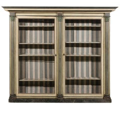 Neoclassical Style French Bookcase with Columns, circa 1880