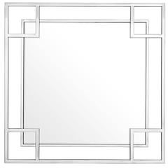 Slim Square Mirror in Polished Stainless Steel or Gold Finish