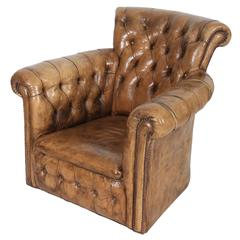 Leather Chesterfield Style Library Armchair