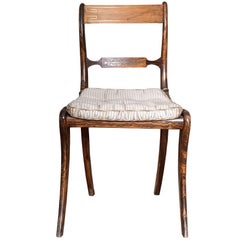 Suite of Regency Grain-Painted Dining Chairs