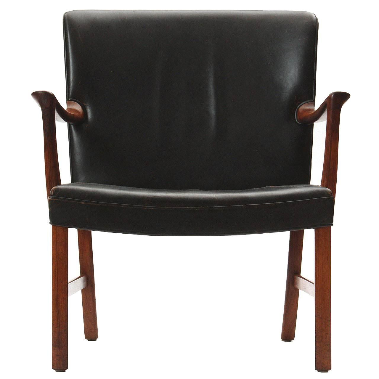 Broad Lounge Chair by Ole Wanscher