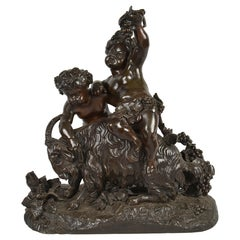 Classical 19th Century Bacchus Bronze Group