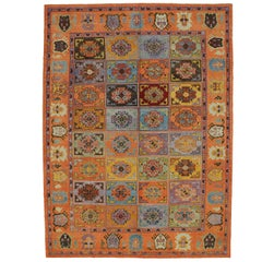 New Contemporary Turkish Oushak Rug with Memphis Design or Postmodern Luxe Style