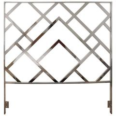 Chrome Queen Size Headboard