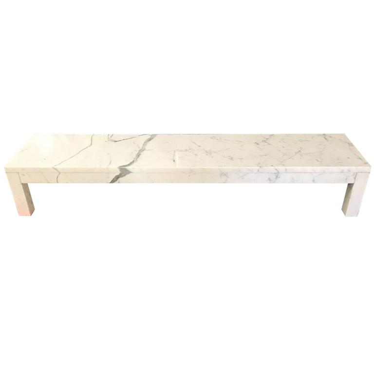 Italian Marble Coffee Or Cocktail Table For Sale At 1stdibs: Stunning Italian Mid-Century Modern Carrera Marble Long