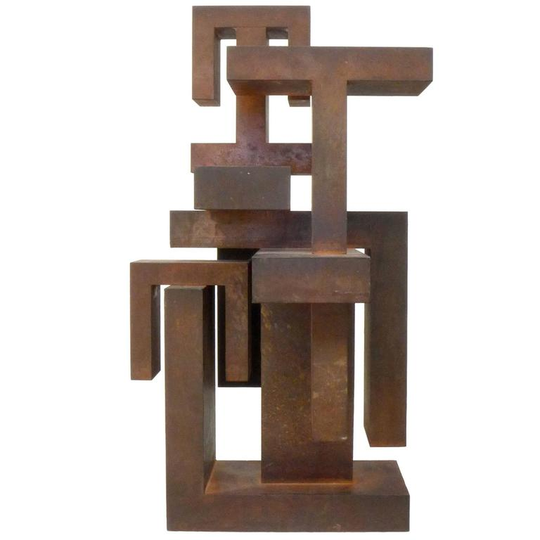 Geometric Abstract Steel Sculpture 1