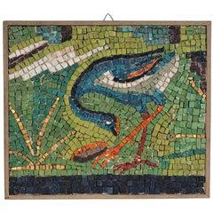 Italian Mosaic Depicting a Feeding Bird