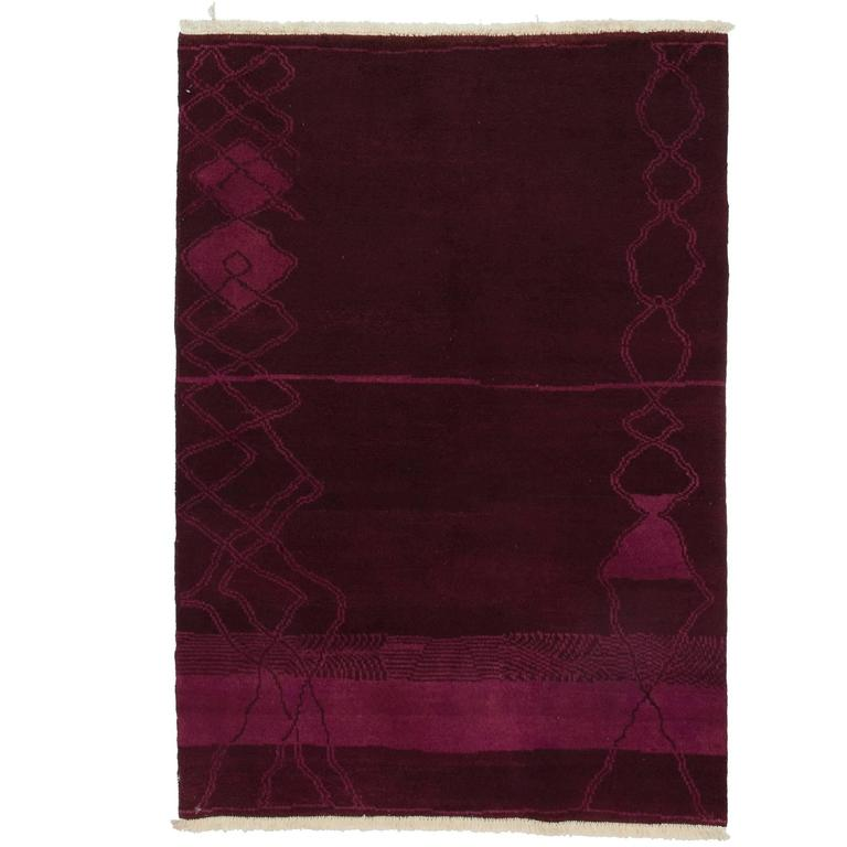 Pink Moroccan Area Rug For Sale At 1stdibs