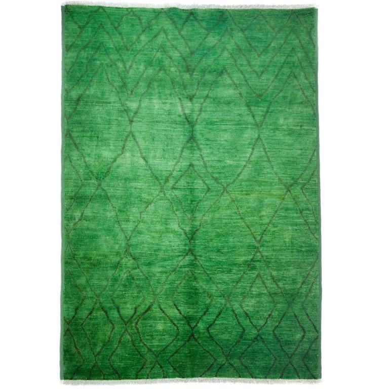 Green Moroccan Area Rug For Sale At 1stdibs