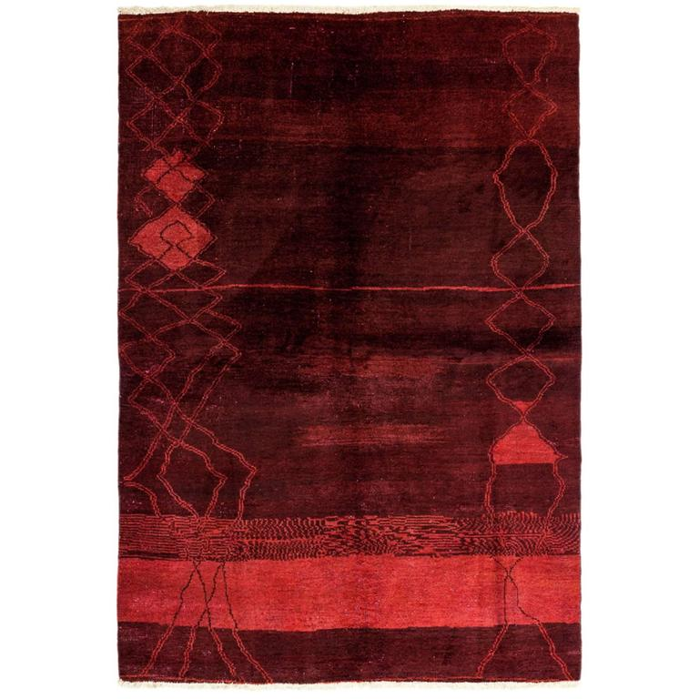 Ivory Wool And Silk Persian Naein Area Rug For Sale At 1stdibs: Red Moroccan Area Rug, Solo Rugs For Sale At 1stdibs