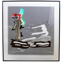 Contemporary Signed Numbered Litho Roy Lichtenstein Brushstroke, 1989, Pop Art