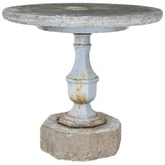 Rare 19th Century Swedish Stone and Iron Garden Table