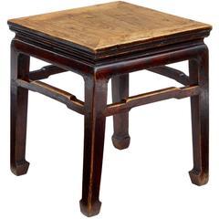Late 19th Century Chinese Elm Stool