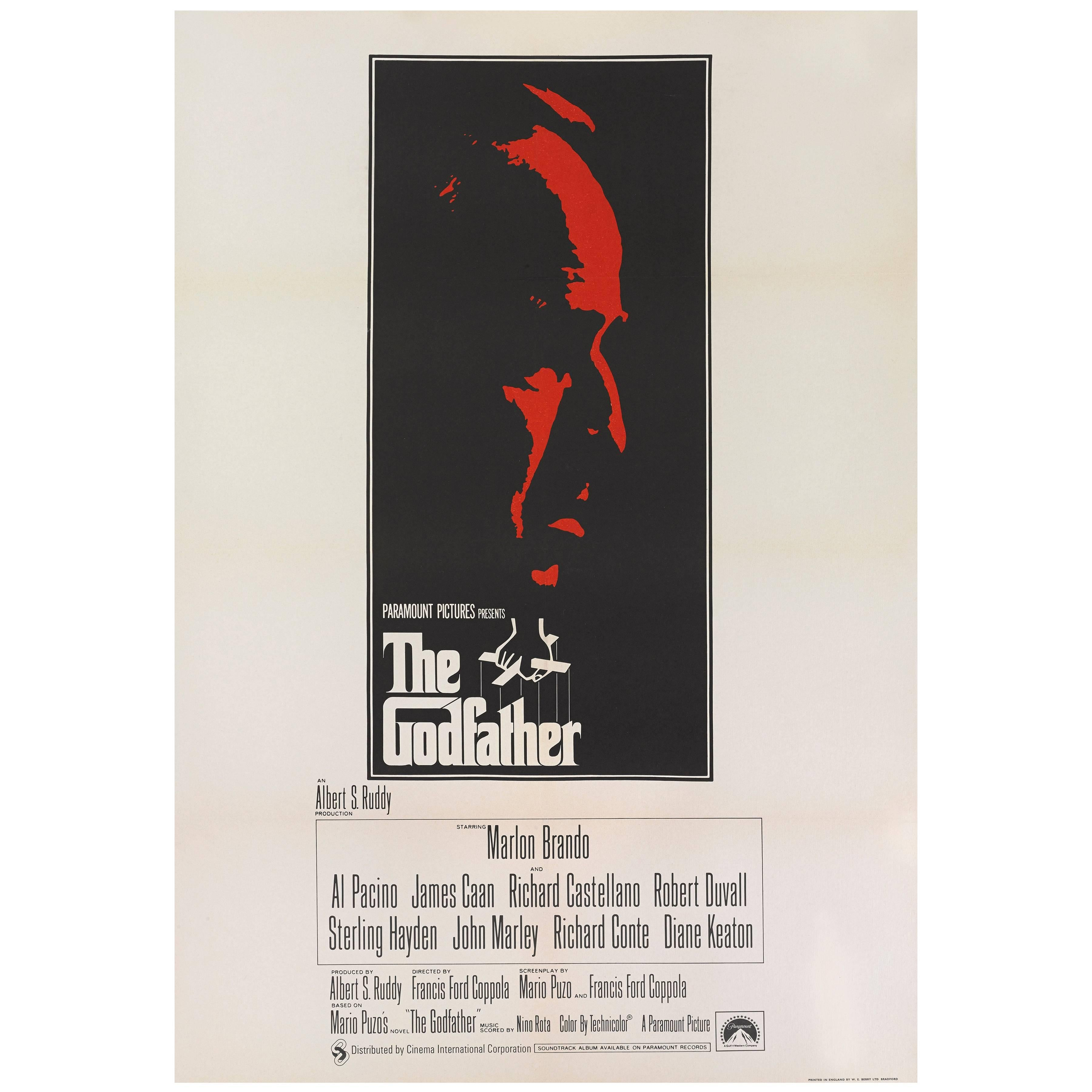"""The Godfather"" Original British Film Poster"
