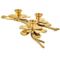 Brass Candle Handle in the Style of Carl Frederik Christiansen