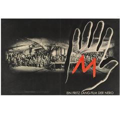 """""""M"""" Original German Cover from Film Program from 1931"""