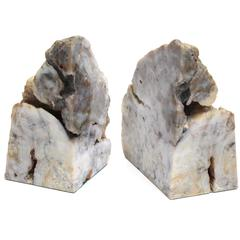 Pair of Geode Bookends