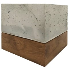 "Modern Cast-Concrete and Solid Walnut ""Planter Box"""