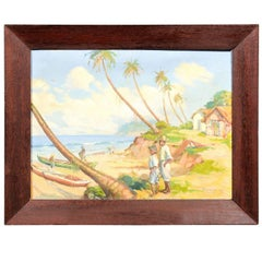 Impressionistic Island Landscape Oil Painting