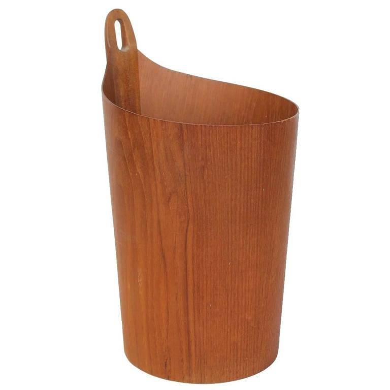 1950s Teak Wastepaper Basket by Einar Barnes for P.S. Heggen