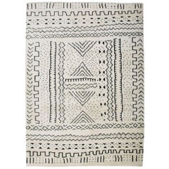 Aelfie Bintou Shag Modern Geometric Hand Knotted Moroccan Inspired Rug