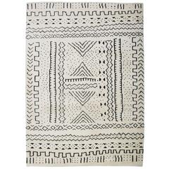 Aelfie Bintou Shag Modern Geometric Hand Knotted Moroccan Inspired Rug