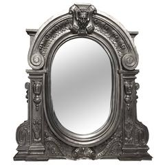 Fabulous Cast Iron Window Mirror